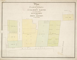 Plan of Freehold Estates in GOLDEN LANE to be sold by Auction BY MR PRICKETT at the MART, LONDON, on Aug st. 10th. 1815